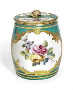 A VINCENNES OR SEVRES GREEN-GROUND MUSTARD-POT AND COVER (MOUTARDIER ORDINAIRE)