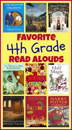Favorite books to read aloud to 4th graders. Great book list for kids!