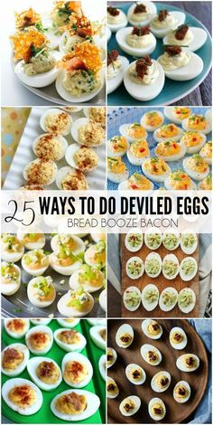 ... showing you 25 Ways to Do Deviled Eggs to make your taste buds sing