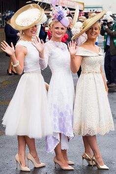 Galway Races 2015 Ladies Day Style - Anne-Marie Corbett, Mitchelstown, Cork, Linda Morrison, Dublin, and Stacey O'Leary, Kilcummin, County Kerry