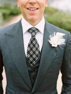 Traditional tie: http://www.stylemepretty.com/2016/07/11/wedding-day-groom-neckwear/