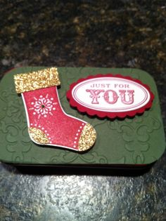 Altoid Gift Card Box. Love the embossed, textured look. Pinning for inspiration.