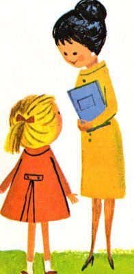 Katy's First Day: A Going-to-School Story (originally published under the title Katy Did) by Jean Conder Soule. Illustrated by Aliki. Whitman Books/Western Publishing Company ©1972.