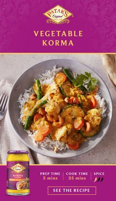 Make Vegetable Korma for dinner with help from Patak's authentic korma curry simmer sauce. It's an easy and delicious dish that features a mild, creamy blend with subtle spices. Tap the Pin to get the recipe. Top Recipes, Beef Recipes, Vegetarian Recipes, Cooking Recipes, Healthy Recipes, Easy Recipes, Potato Recipes, Seafood Recipes, Spaghetti