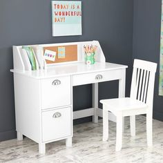 Study Desk with Drawers White - KidKraft : Target