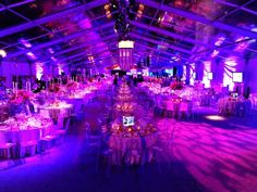 Clear structure tent - great use of event lighting