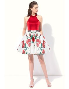 OYILAN Womans Floral Print Homecoming Dress Elegant Halter Prom Dresses Turquoise 06 >>> You could discover even more information at the web link of the photo. (This is an affiliate link). Elegant Prom Dresses, Homecoming Dresses, Sexy Dresses, Floral Prints, Turquoise, Link, Collection, Women, Floral Patterns