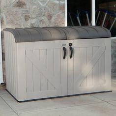 Lifetime Kunststoff Mülltonnen-Box, Aufbewahrungsbox, Mülltonnenverkleidung, Fahrradbox, Gerätebox: Amazon.de: Garten