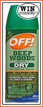 The Outdoors Misses You Instant WIN Game INSTANTLY WIN one of 3,000 cans of OFF! Deep Woods® Dry in a 2.5 oz. aerosol spray. Enter DAILY-End...