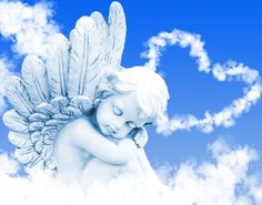 Photo about Angel dreams before heart from clouds. Image of clouds, dreaming, remember - 35336704 Photo Ange, Tarot, Angel Images, Best Anime Shows, Angels Among Us, Dream Wall, Photo Wallpaper, Cute Art, Wall Murals