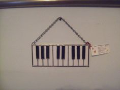 Back by popular demand- stained glass piano keyboard - Can purchase at An Octopus Garden, Village on High St., Millville, NJ