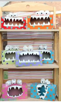 Do you have a little monster at home? Try making these fun little monsters made from old tissue boxes