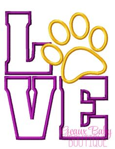 Love Paw 4x4 ONLY Machine Embroidery by GeauxBabyBoutiqueLA, $4.00