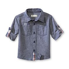 Route 66 Infant & Toddler Boy's Chambray Shirt - Elbow Patch - Clothing, Shoes & Jewelry - Clothing - Baby & Toddler Clothing - Tops