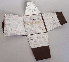 """""""Painfully Animal"""", envelope book, metallic paper, handmade paper, sewn binding, collage"""