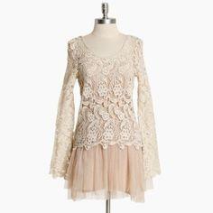 Cordelia crochet and tulle dress