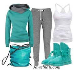 cute lazy outfit turquoise