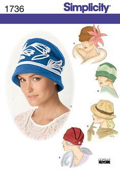 Patron chapeau SIMPLICITY - 1736 - A - hiver POLAIRE pour femme moderne -toutes tailles : Patrons par flashassociation