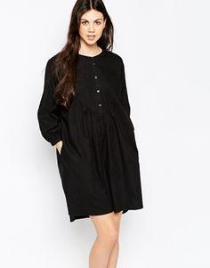 Monki Button Detail Smock Dress, serious laid back vibes <3