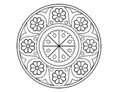 Desenho de Mandala flor                                                                                                                                                      Mais