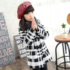 Find More Jackets & Coats Information about Spring new Korean girls double breasted plaid wool coat kids jacket children's clothing casual fashion clothing,High Quality fashion gumboots,China coats saddle Suppliers, Cheap coated metal from Seanna on Aliexpress.com