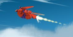 kevinnelsonart:  big hero 6 sketches showing how Hiro might ride on Baymax's back