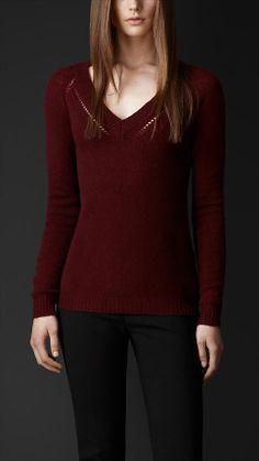 Open Stitch Cashmere Sweater | Burberry