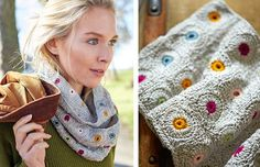 Made with soft silk yarn in jewel-like colours, this pretty cowl crochet pattern would make an ideal gift for a daughter or granddaughter