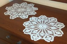 Set of Pineapple Doilies by MomDaughterCraft on Etsy, €18.00 #pcfteam