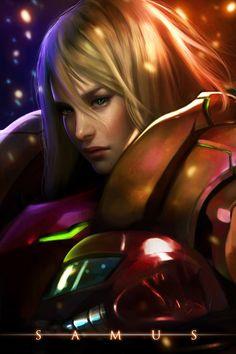 Samus Aran, Metroid series artwork by Kathryn Lee Steele. Samus Aran, Metroid Samus, Metroid Prime, Super Nintendo, Video Game Art, Video Games, Super Metroid, Female Protagonist, Photo Awards