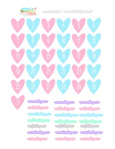 Hey everyone! Today I am sharing my heart dates stickers! You can use it to cover up the top part of the Erin Condren Planner. There are also days of the week in a cute scripted font as well! I love decorating my planner with washi tape, but sometimes it covers up the dates so …Continue Reading...