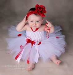 Mommy's little Valentine princess luxe baby tutu dress $45