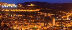 The city of Fez at night