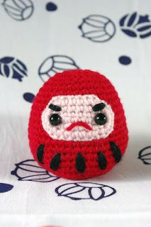 Dharma's Amigurumi: making room in US natural modern Daruma Doll, So Little Time, Knit Crochet, Beanie, Dolls, Hats, How To Make, Pink, Blog