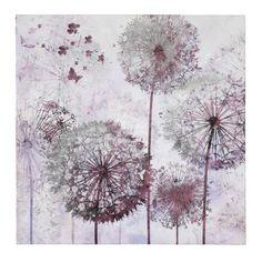 Wandbild, Pusteblume, Tannenholz, Leinwand, Folie Vorderansicht