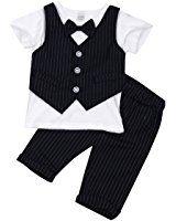 yizyif 1pc kinder kleinkind junge kleidung spielanzug bodysuit gentleman outfit taufe hochzeit. Black Bedroom Furniture Sets. Home Design Ideas