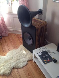 Hifi Audio, Audio Speakers, Horn Speakers, Speaker Design, Vacuum Tube, Sound Waves, Loudspeaker, Vinyl Records, Design Elements