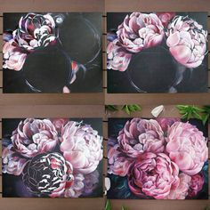 Oil Painting Flowers, Painting & Drawing, Peony Drawing, Watercolor Rose, Art Tutorials, Painting Inspiration, Art Lessons, Flower Art, Art Projects