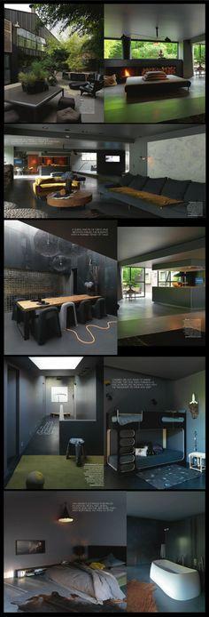 Le design néerlandais et la couleur anthracite; une combinaison excellente! La maison d'une des fondatrices de Serendipity.