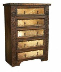 Dark Cowhide Chest | Rustic Furniture | Western Furniture