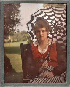 Autochrome portrait of Flora Stieglitz Straus