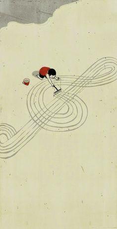 Le Bouquinovore: Douces et surrealistes Illustrations d'Alessandro Gottardo