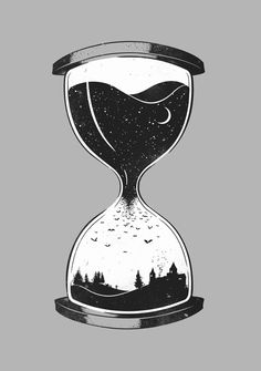 Check out the design As Night Falls by Grant Stephen Shepley available on Mens Regular Tee on Threadless Hourglass Drawing, Hourglass Tattoo, Time Tattoos, Body Art Tattoos, Tatoos, Geniale Tattoos, Desenho Tattoo, Poster Prints, Art Prints