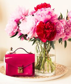 Peonies and trays