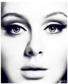 Adele on Vogue's cover page. Photo by Mert Alas & Marcus Piggott