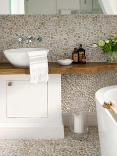 6 Magical Tips AND Tricks: Hall Bathroom Remodel Benjamin Moore bathroom remodel country home decor.Simple Bathroom Remodel Back Splashes bathroom remodel shower combo. Hall Bathroom, Bathroom Spa, Simple Bathroom, Bathroom Flooring, Master Bathroom, Bathroom Ideas, Eclectic Bathroom, Brown Bathroom, Bathroom Modern
