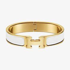 Clic H bracelet   Hermès Färg: blanc
