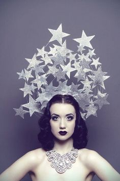 star headpiece - i think some of the pieces are too big and chunky... would love to see this done delicately.