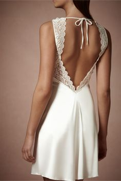 Chantilly Chemise in Bride Bridal Lingerie at BHLDN