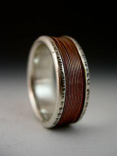 Men's Copper Wire Channel Ring
